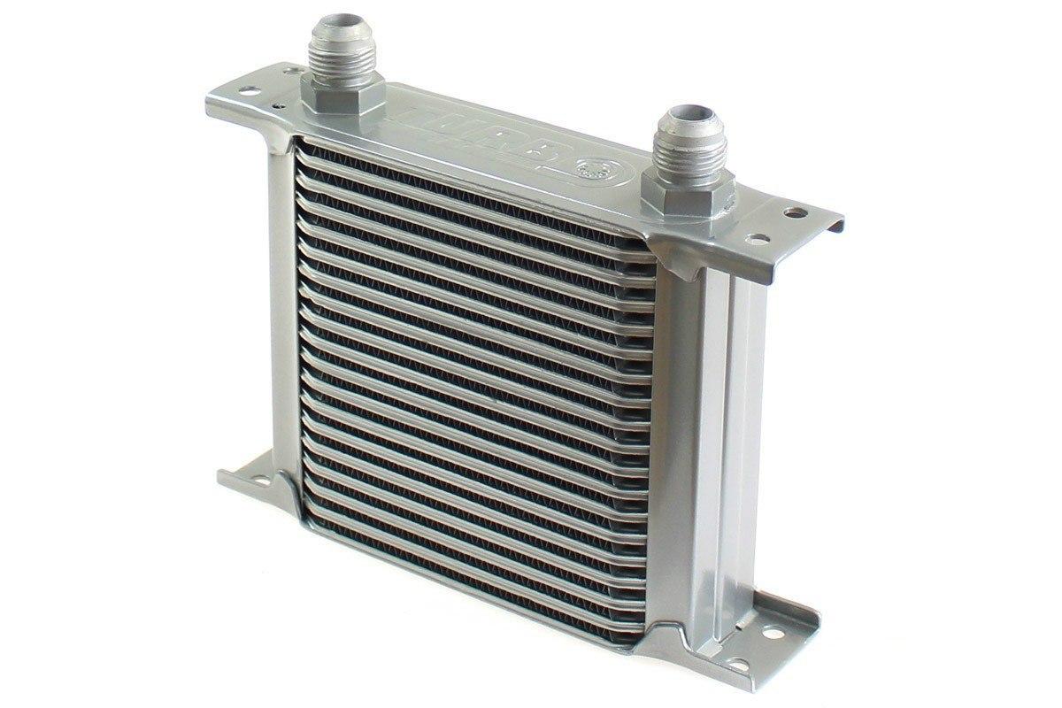Chłodnica Oleju TurboWorks Slim Line 19-rzędowa 140x150x50 AN10 silver - GRUBYGARAGE - Sklep Tuningowy